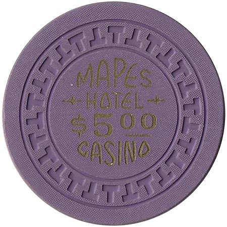 Mapes Casino $5 (purple, gold lettering) chip