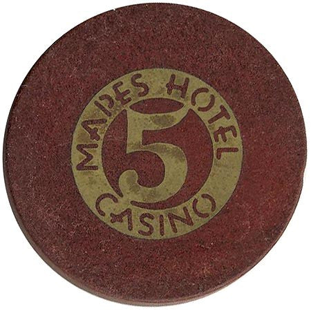Mapes Casino Reno NV $5 Chip 1948