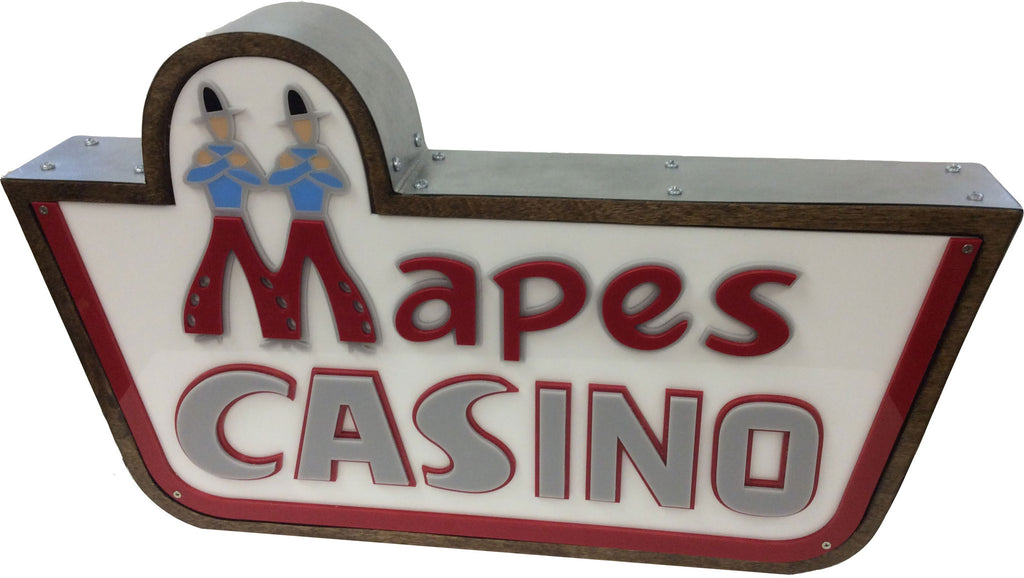 Mapes Casino Marquee Sign Lighted Replica