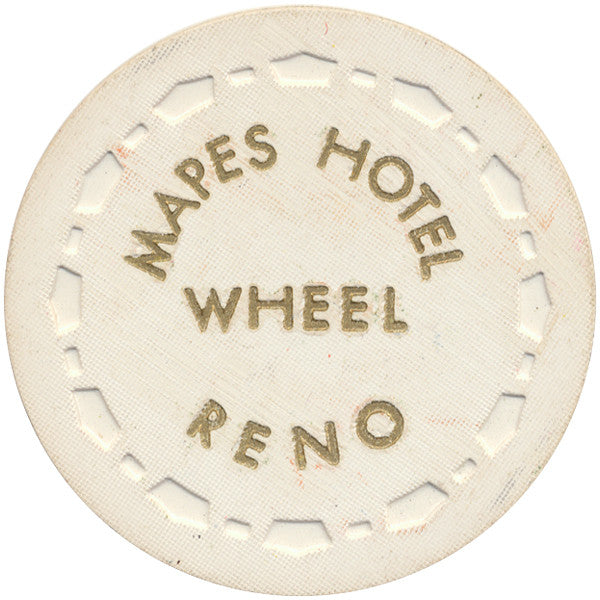 Mapes Hotel Wheel (white) Chip - Spinettis Gaming - 1
