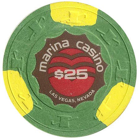 Marina casino $25 (green) chip - Spinettis Gaming - 1