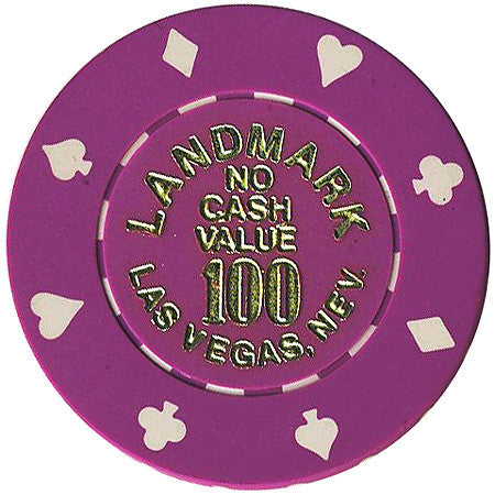 Landmark 100 (No Cash Value) chip - Spinettis Gaming - 1