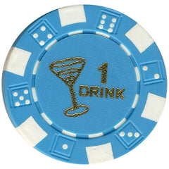 Free Drink Chips - Martini Glass Token/Tokens For Promotions - Spinettis Gaming - 1