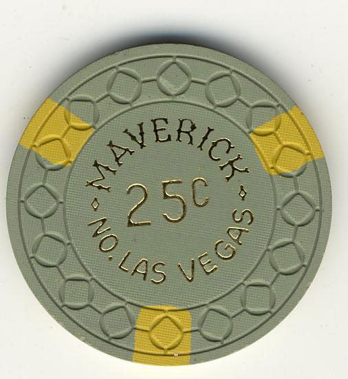 Maverick Casino North Las Vegas 25cent chip 1960s