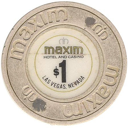 Maxim $1 (beige) chip - Spinettis Gaming