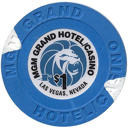MGM Grand (Small Inlay), Las Vegas NV $1 Casino Chip - Spinettis Gaming - 1