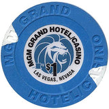 MGM Grand (Small Inlay), Las Vegas NV $1 Casino Chip - Spinettis Gaming - 2