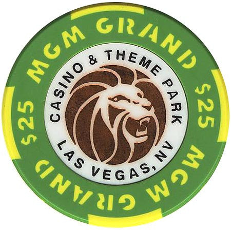 MGM Grand Casino $25 (green) chip