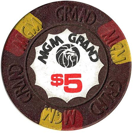 MGM Grand Casino $5 (brown) chip