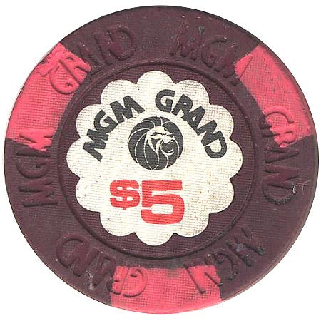 MGM Grand Casino $5 (purple) chip