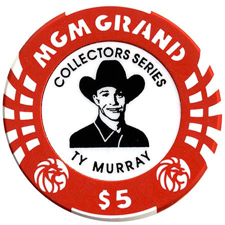 MGM Grand Casino $5 (TY Murray) chip