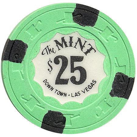 The Mint $25 (green) chip