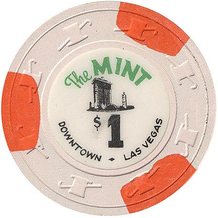 The Mint Casino Las Vegas $1 (3-orange inserts) chip uncirculated - Spinettis Gaming