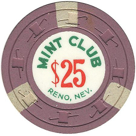 Mint Club Casino Reno NV $25 Chip 1959