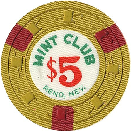 Mint Club Casino Reno NV $5 Chip 1959