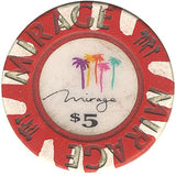 Mirage Casino Las Vegas $5 chip 1989 - Spinettis Gaming