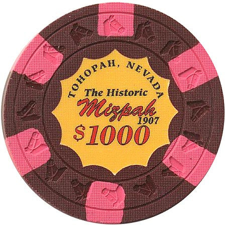 Mizpah $1000 (burgundy) chip - Spinettis Gaming - 1