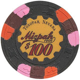 Mizpah $100 (black) chip - Spinettis Gaming - 2