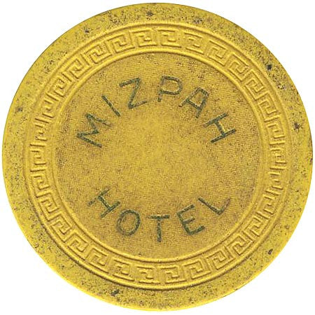 Mizpah Hotel (yellow) chip - Spinettis Gaming - 1