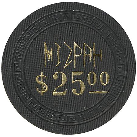 Mizpah $25 (black) chip - Spinettis Gaming - 2