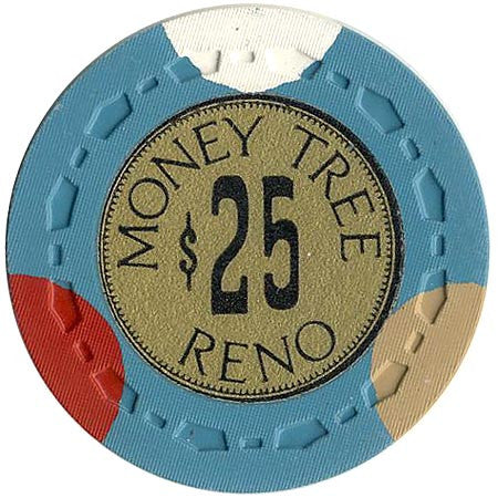 Money Tree Casino Reno $25 chip (cyan) - Spinettis Gaming