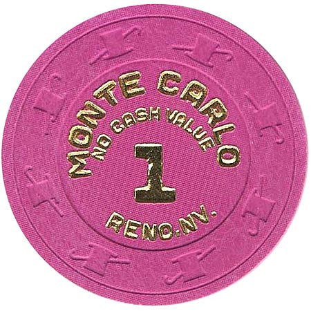 Monte carlo 1 (No Cash Value) chip - Spinettis Gaming - 1
