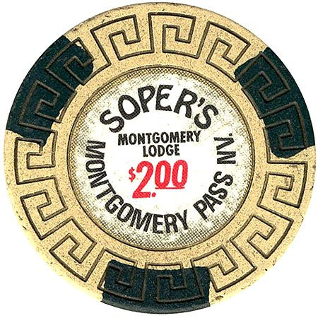 Montgomery Lodge (Soper's) $2 chip