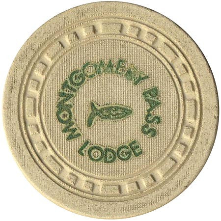 Montgomery Pass Lodge $5 (off-white) chip