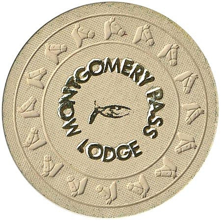 Montgomery Pass Lodge $5 (beige) chip - Spinettis Gaming - 1