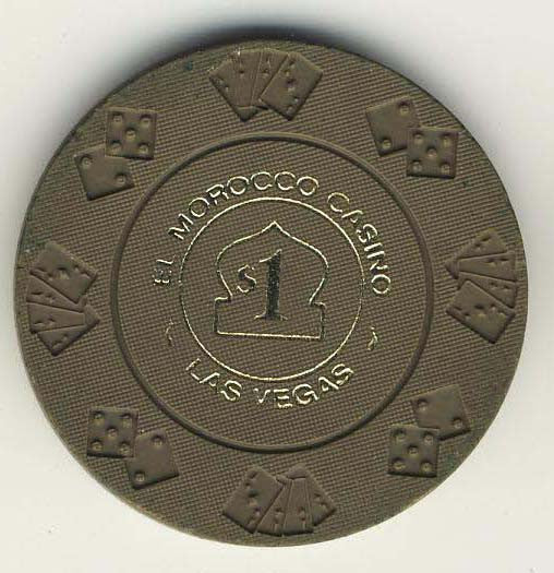 El Morocco $1 (gray 1975) Chip - Spinettis Gaming - 2