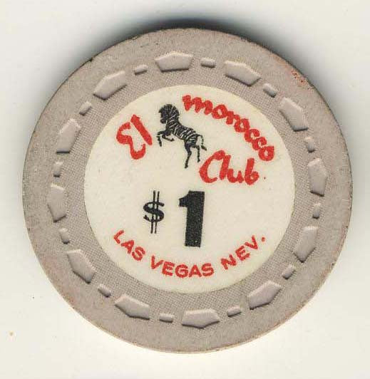 El Morocco club Las Vegas $1 (beige1964) Chip - Spinettis Gaming