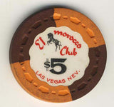 El Morocco club $5 (orange/brown 1964) Chip - Spinettis Gaming - 1