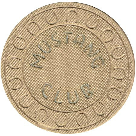 Mustang Club (beige) chip - Spinettis Gaming - 1