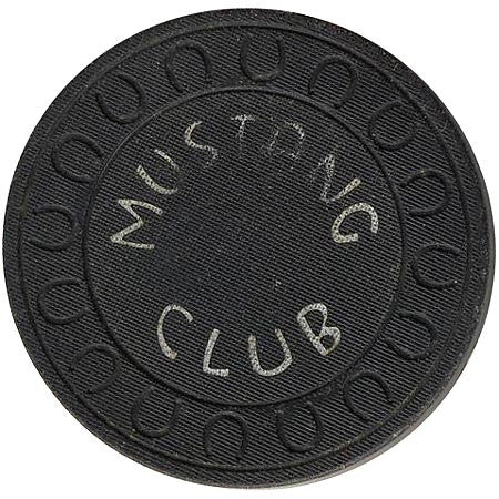Mustang Club (black) chip - Spinettis Gaming - 1