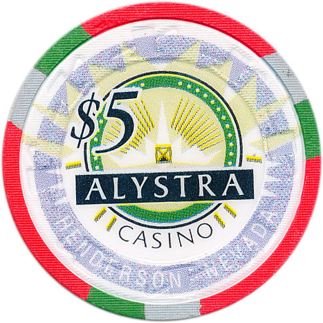 Alystra Casino Henderson NV $5 Chip 1995