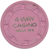 4 Way Wells $1 Chip 1957
