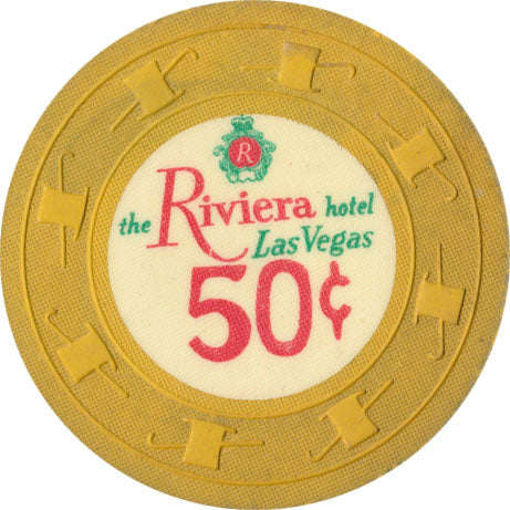 Riviera Casino Las Vegas NV 50 Cent Chip 1969