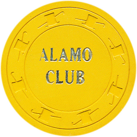 Alamo Club Pioche 25 cent Chip 1952