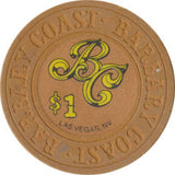 Barbary Coast Las Vegas $1 Chip 1985