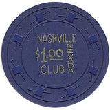 Nashville Club $1 (blue) chip - Spinettis Gaming - 1
