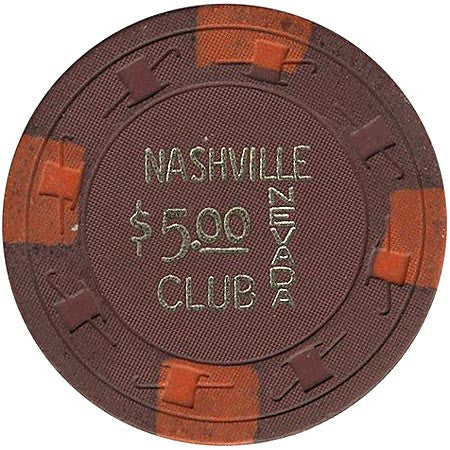 Nashville Club $5 (brown) chip - Spinettis Gaming - 2