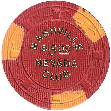 Nashville Club $5 (red) chip - Spinettis Gaming - 1