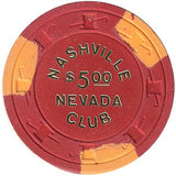 Nashville Club $5 (red) chip - Spinettis Gaming - 2