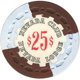 Nevada Club $25 (brown/blue) chip - Spinettis Gaming - 2