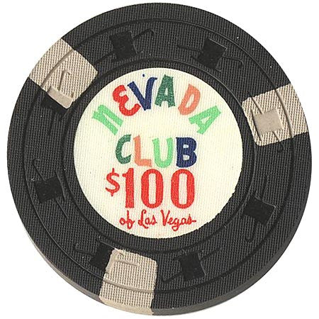 Nevada Club $100 (black) chip