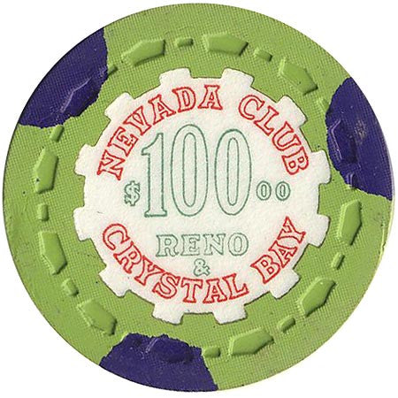 Nevada Club $100 (green) chip - Spinettis Gaming