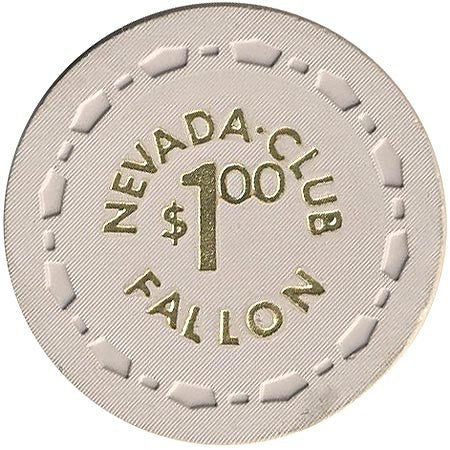 Nevada Club $1 (beige) (1) chip - Spinettis Gaming - 1