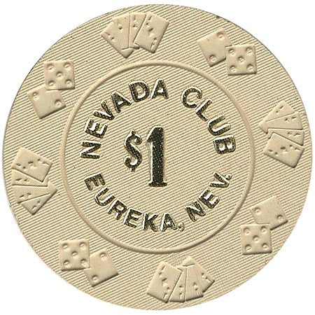 Nevada Club $1 (beige) chip - Spinettis Gaming - 1