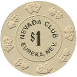 Nevada Club $1 (beige) chip - Spinettis Gaming - 2