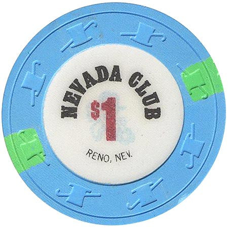 Nevada Club $1 (Lt. blue) chip - Spinettis Gaming - 1